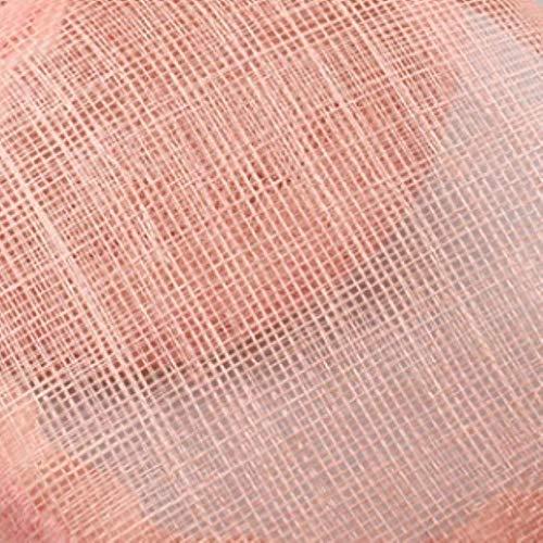 FHKGCD Kentucky Sinamay Tocados con Velo Mujer Accesorios para El Cabello De Boda Nupcial Derby Ocasión Sombreros De Iglesia, Rosa,