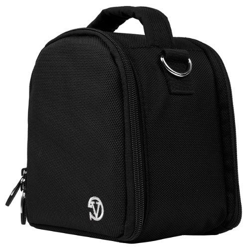 Travel Shoulder Bag Carrying Case (Black) for Nikon Coolpix L120, V1, P100, P500, P7000, P7100, D3800, D800 Digital SLR DSLR Professional Camera
