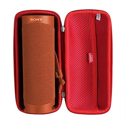 Hermitshell - Funda rígida para altavoz inalámbrico Sony SRS-XB23 (Bluetooth), color rojo