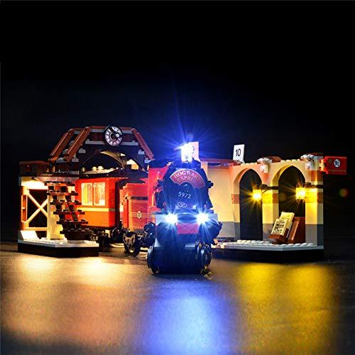 Kit di Illuminazione a LED Compatibile con Lego 75955, USB Light Set per Harry Potter Hogwarts Treno Building Blocks Modello, Illuminazione Morbida, Risparmio energetico (Solo Leggero)