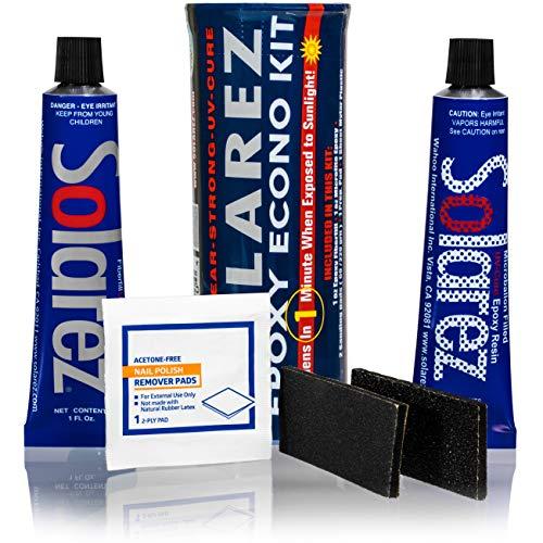 SOLAREZ EPOXY Econo Gift KIT ~ UV Cure Surfboard Repair Epoxy, SUP,...