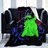 EgVgxir Oogie Boogie Blanket Super Soft Flannel Throw Blanket Funny Anime Blankets for Couch Bed Sofa 50'X40'