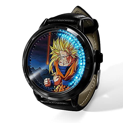 Anime Dragon Ball Saiyan Sun Wukong LED Reloj impermeable pantalla táctil digital luz reloj unisex Cosplay Props regalo New-16_F