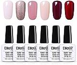 Elite99 Vernis Semi permanent 6pcs Lot Vernis à Ongles Nail Gel UV LED Kit Manucure Pour Ongle, 10ml 04