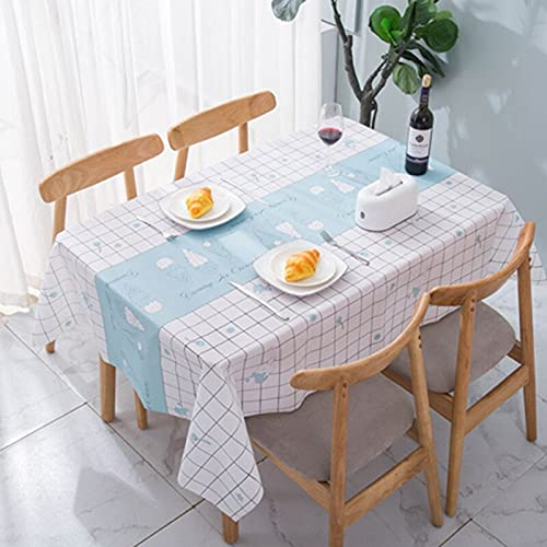XXDD Tejido Simple y Generoso Paño de Mesa Impermeable a Prueba de Aceite Comedor Rectangular Escritorio Cocina Mantel a Cuadros Decorativo A2 140x140cm