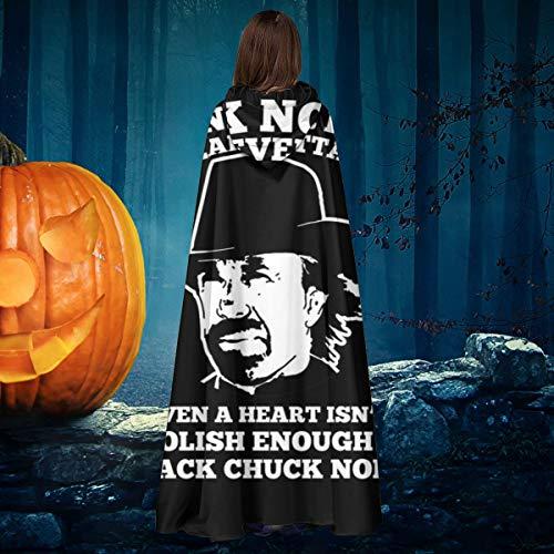 NULLYTG Chuck Norris Nunca tendr un Ataque al corazn, Unisex, para Navidad, Halloween, Bruja, Caballero, con Capucha, Bata de Vampiros, Capa de Capa de Disfraz, Cosplay