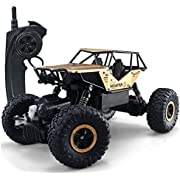 SZJJX RC Cars Off-Road Rock Vehicle Crawler Truck 2.4Ghz 4WD 1: 18 Radio Remote Control Racing Cars Electric Fast Race Buggy Hobby Car Gold