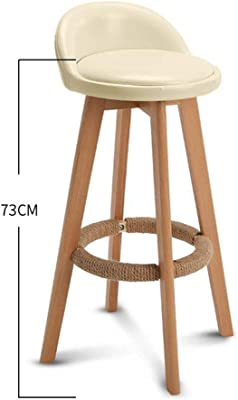 tthappy76 Bar Stool Nordic Modern Minimalist Household Solid Wood High Stool Bar Stool Bar Chair Leisure Back Chair Stool,Style 11