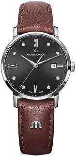 Maurice Lacroix - Reloj de cuarzo Maurice Lacroix Eliros Date Ladies, Negro, 30mm, Piel, Diamantes