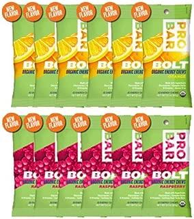 Probar Bolt Organic Energy Chews Orange and Raspberry - Six of Each Flavor, Box of 12 …
