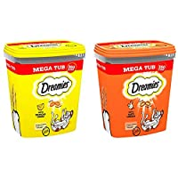 Cats go mad for the irresistible taste of Dreamies cat treats! Deliciously crunchy on the outside, soft on the inside; cats simply can't resist the great taste of Dreamies, so go on, give the bag a shake and watch your cat come running! - Dual textur...