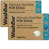 Manuka WashBar Dog Shampoo Bar For Small Dogs and Puppies, Ferrets, Rabbits, Guinea Pigs, Hamsters - Natural Anti Itch for Dogs for Dog Allergy and Sensitive Skin. Gentle Shampoo For Dry Itchy Skin. 2 pack.