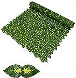 EIIDJFF Artificial Pantalla Valla de privacidad Paneles de Valla de Enrejado Valla de jardín de privacidad Adorno de Valla de Pared para jardín de Bodas Proyección de Hojas Artificiales
