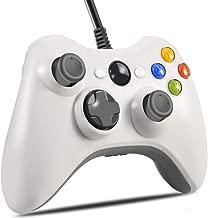 Xbox 360 Controller, VOYEE Design Wired Controller Gamepad for Microsoft Xbox 360 & Slim/Windows/PC (White)
