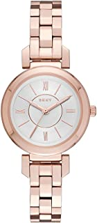 DKNY Women's 'Ellington' Quartz Stainless Steel Casual Watch, Color:Rose Gold-Toned (Model: NY2592)
