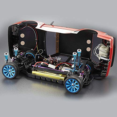 Goolsky 4 Stücke RC Auto Shell Spalte Post Mount Metallmagnet Unsichtbar für Traxxas HSP Redcat RC4WD Tamiya Axial SCX10 D90 HPI RC Crawler,Blau