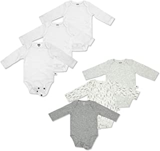 Baby Gift Set 6-Piece Breathable Cooling Mesh Long-Sleeve Bodysuits - Unisex, Girls, Boys