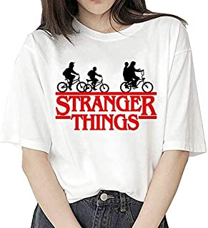 Camiseta Stranger Things Niña, Camiseta Stranger Things Mujer, Impresión T-Shirt Abecedario Camiseta Stranger Things Tempo...