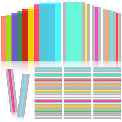48 Pieces Guided Reading Strips with 3 Styles Highlight Bookmarks Colored Overlay Reading Tracking Rulers for Children Students Teachers Help with Dyslexia