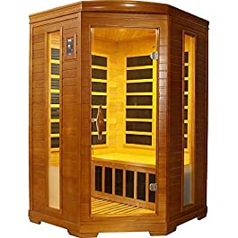 DYNAMIC SAUNAS AMZ-DYN-6225-02 Heming Infrared Sauna, Dark Honey Stain