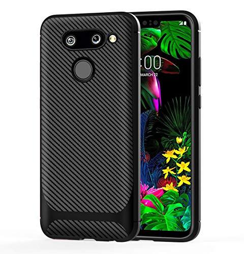 HülleExpert LG G8 ThinQ Hülle, Carbon Fiber Texture Flexibel TPU Hülle Shock Resistant-Weich Abdeckung Cover Hülle Schutzhülle Handy Tasche Etui Hüllen Für LG G8 ThinQ