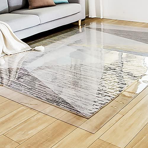 ZJM Läufer Klares Plastikvinyl Bürostuhl Mat für Hartholzboden, rutschfest Teppichschutzmatte zum Küche/Wohnzimmer, 1mm dick (Size : 80×200cm(31'×79'))