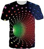 Fanient Camiseta Unisex de Manga Corta Impresa en 3D Camiseta Casual