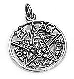 KERALA Colgante Tetragramaton en Plata de 925. Diámetro 1.80 cm.Amuleto