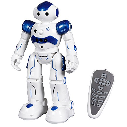 SGILE RC Robot Toy, Programmable Smart Infrared Sensing Robot for Kids Birthday Gift Present, Blue