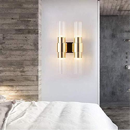 Sconce Wandlamp Heldere Moderne Kristallen Muur Nordic Luxe Gouden Glas Nachtkastje Hotel Balkon Hal Trappen Enkele Stud Wandlamp Wandlampen