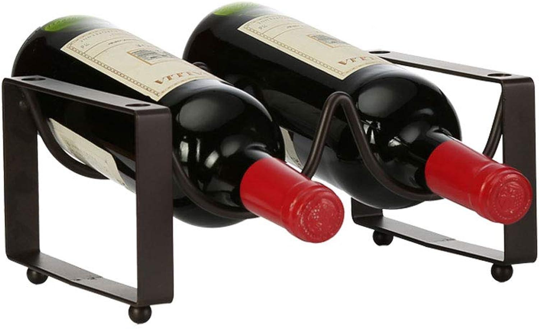nuevo sádico XF Porta Botellas de Hierro Forjado para para para Estante de Vino, apilable, combinación Libre, decoración Creativa para Racks de Vino, 3 Tamaños Pueden Elegir    (Tamaño   A)  tienda en linea