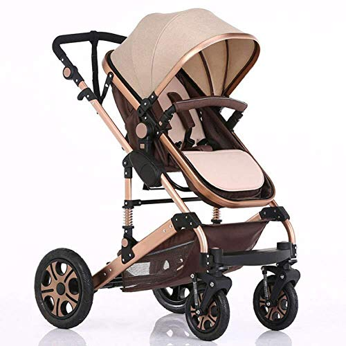 Best Buy! HZC Baby Stroller Compact and Lightweight 2 in 1 Pushchair Two-Way Folding Travel System, ...