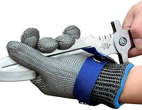 Schwer Level 9 Cut Resistant Glove Stainless Steel Mesh Metal Wire Glove Durable Rustproof Reliable product image