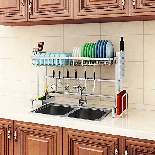 LLLZM Schaal Droogrek Over Spoel Verchroomd Duurzaam, Schotel en Beker Drainer Plank voor Keukenbenodigdheden Opslag Counter Organizer Gebruiksvoorwerpen Houder RVS Display