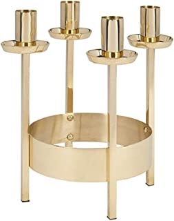 Polished Brass Tabletop Advent Wreath Candleholder, 8 3/4 Inch