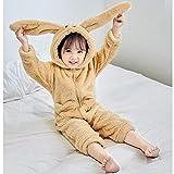 BGHKFF Mono Saco De Dormir Infantil del Algodón para Bebé con Dibujo Animado Pijama Franela para Pijama Invierno Disfraz Animal con Cremallera,Kids-M