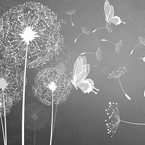 FORWALL Fototapete Vlies - Tapete Moderne Wanddeko Pusteblumen und Schmetterlinge VEXXXL (416cm. x 254cm.) AMF10158VEXXXL Wandtapete Design Tapete Wohnzimmer Schlafzimmer