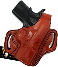 HOLSTERMART USA TAGUA Right Hand Classic BH1 Brown Leather Thumb Break OWB Belt Holster for 3