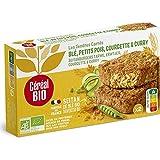 Céréal Bio Tendres carrés de Blé, Petits pois, Courgette, Curry - Végan et Bio - Simple et Rapide à Réchauffer - 200g (2 x 100g) - 209479