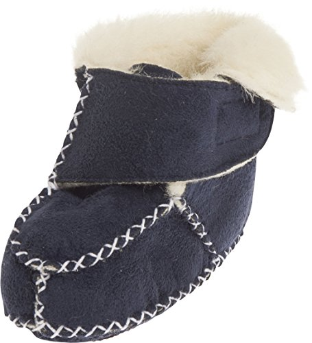 Playshoes Baby-Hausschuhe mit Klettverschluss, Blau (marine 11), 20/21 EU