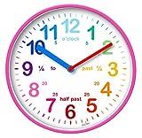 Acctim Wickford Kids - Reloj de pared, color rosa