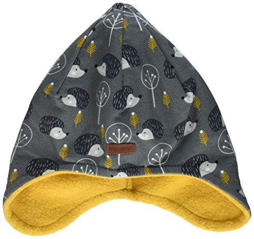 maximo Jungen Inkaform aus bedrucktem Sweat mit Igeln Mütze, Grau (Holzkohle-Grau-Igel 74), (Herstellergröße: 53)