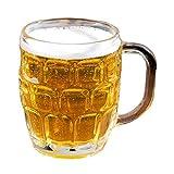 Dimple Stein Irish German Beer Glass Mug With Large Handle - 16 oz