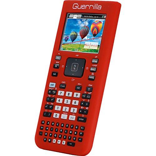 Guerrilla Silicone Case for Texas Instruments TI Nspire CX/CX CAS Graphing Calculator, Red