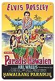 Paradise Hawaiian Style (Paradis Hawaien) - Starring Elvis Presley - Vintage Film Movie Poster c.1966-8in x 12in Vintage Metal Tin Sign