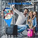 Deogra 1000 Watt Reiseföhn für Kinder Süß Dinosaurier Design Klein Haartrockner Klappbar Dual Spannung Fön mit Diffusor für Locken, Tragbar Aufbewahrung Beutel für Reise Blau - 5