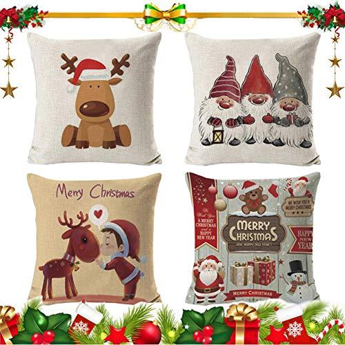 Cojines Navideños Para Sofa Blancos cojines navideños  Marca Ambolio