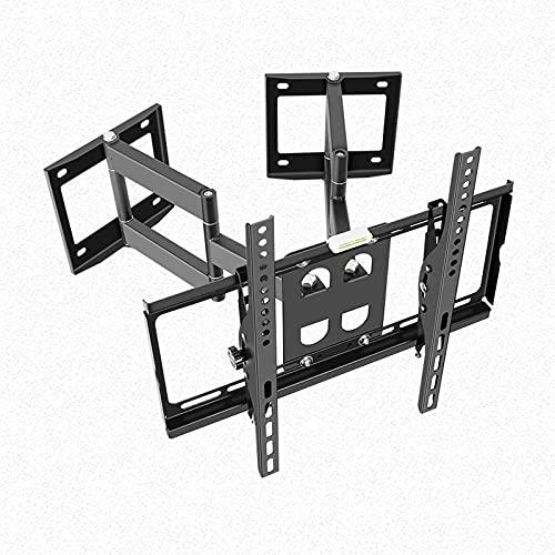 Soporte TV Esquina de seis brazos TELEVISOR Soporte de movimiento completo Montaje de pared Extensión giratoria inclinación TELEVISOR Soporte con doble base se adapta a la mayoría de 32 a 70 pulgadas