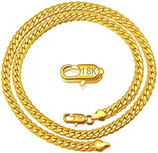 5MM Gold Plated Unisex Chain Long Necklace for Men Women