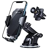 Andobil Car Phone Mount Easy Clamp 3.0,【The Most Stable Version】 Universal Dashboard Vent Windshield Hands-Free Phone Holder for Car Compatible with iPhone 12 11 SE XR XS 8 Galaxy S21 Note20 and More